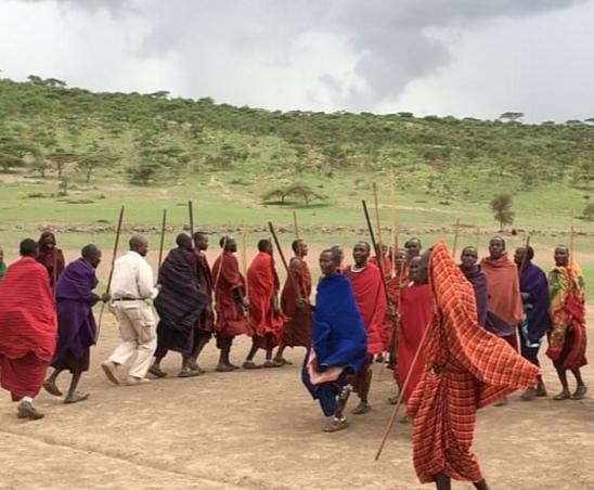 Traditionele dans van het maasai volk