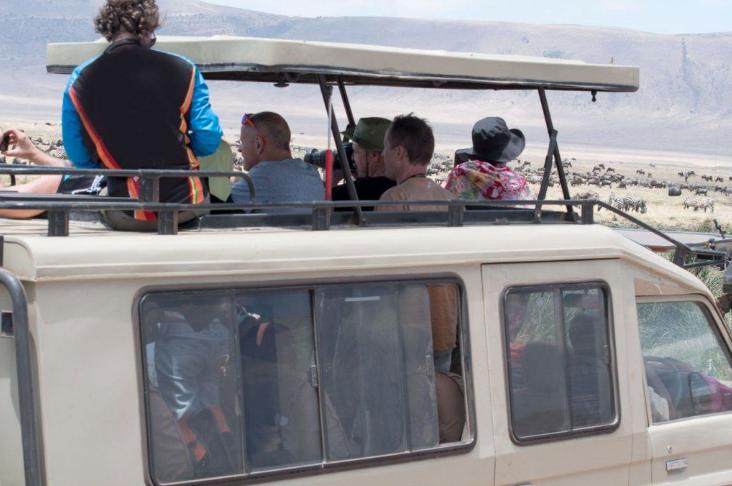 volle safari auto geen groepssafari